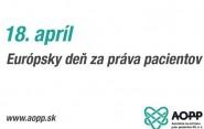18. apríla si pripomíname Európsky deň práv pacientov